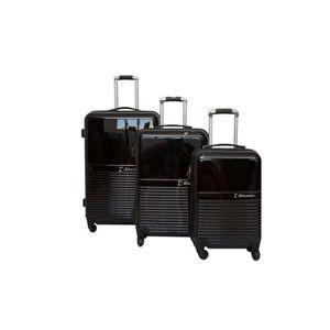 SET DE VALISES Set de 3 Valise Polycarbonate Noir 4 roues - Troll