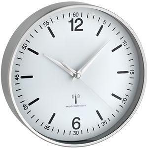 HORLOGE - PENDULE TFA Horloge murale Radio-pilotée LOCARNO blanc