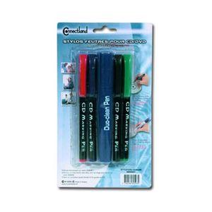 Stylo - Parure VSHOP® Lot de 4 stylos pour CD-DVD + correcteur
