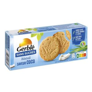 BISCUITS SECS GERBLE Biscuit saveur coco, sans sucre - 132 g