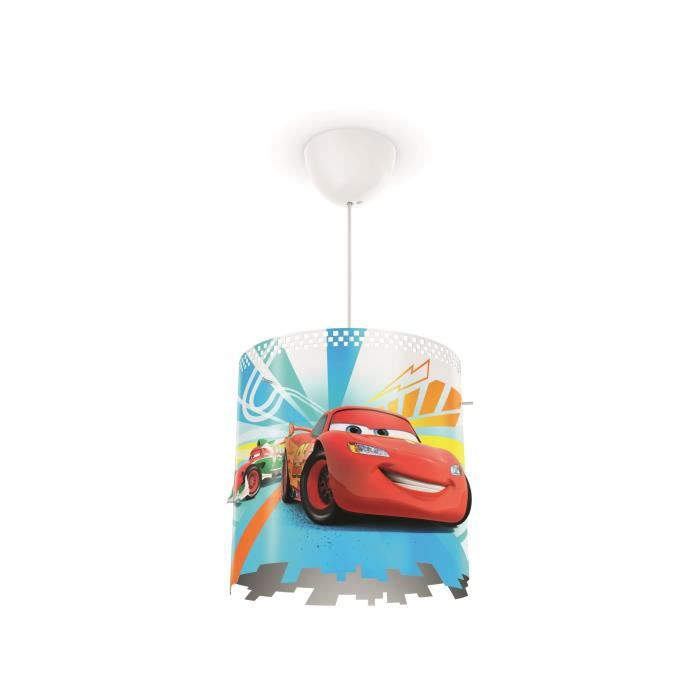 Disney Philips Lustre - suspension enfant Cars rouge 23W