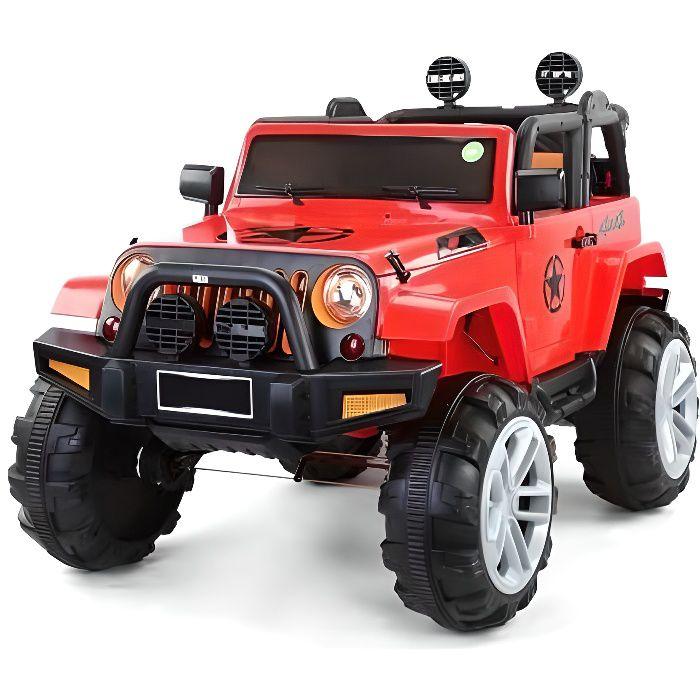 ATAA BIGFOOT 4X4 Rouge - Voiture électrique pour enfant avec batterie 12v et télécommande