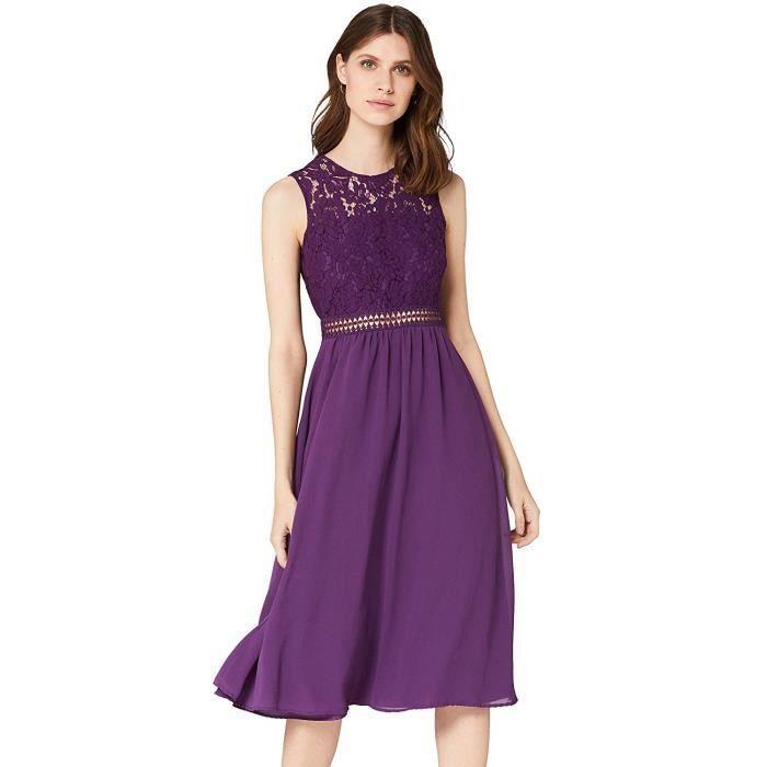 TRUTH & FABLE JCM36247 Wedding Dresses, Purple (Bright Violet), 8 (Size:XS) - JCM36247-Bright Violet