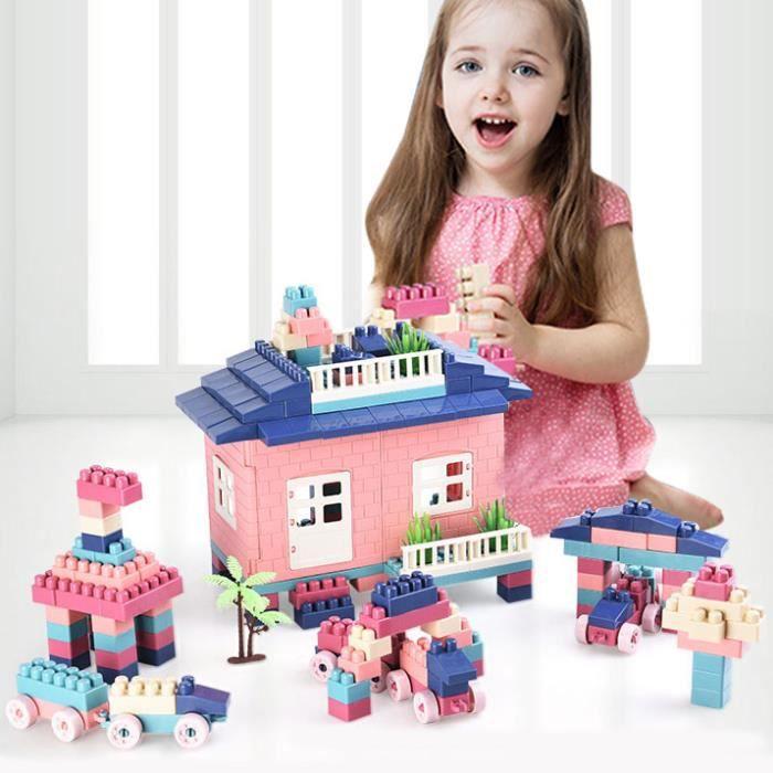 Jeu de Construction Modelisme Scène en Plastique Blocs de Construction Jouet Puzzle Assemblage Education pour Enfant Bébé -228 Blocs