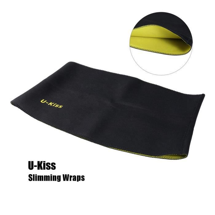 U-Kiss Ceinture Shaper Belt Vêtement De Sudation Sauna Minceur Sportif Taille Xl