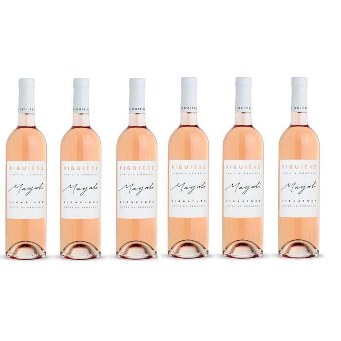 Lot de 6 bouteilles Domaine St André de Figuiere Cuvée Signature Magali rosé 2017
