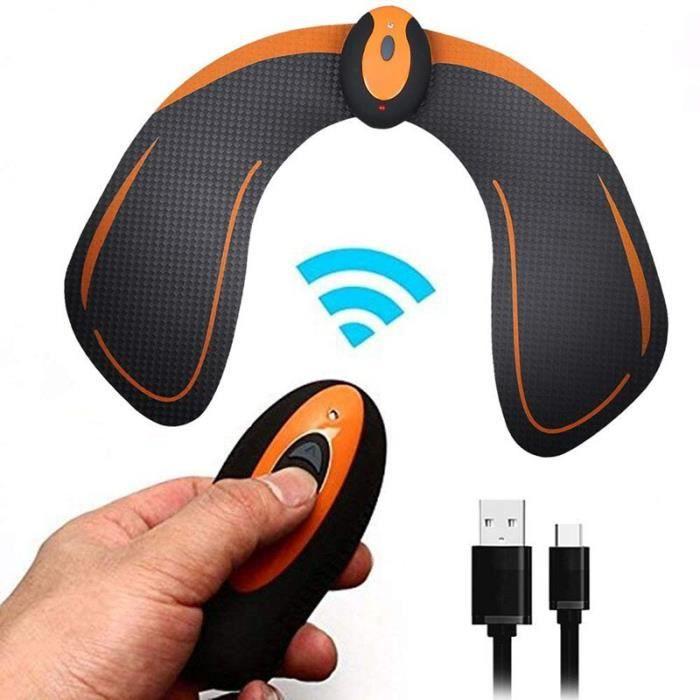 Hanches Formateur Fesses Fesses Muscle Électro Stimulateur ABS Électronique EMS Vibration Intelligen - Modèle: Black - HSJSZHA03642