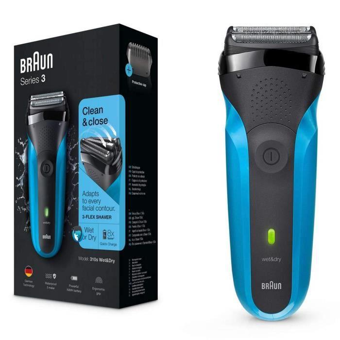 Braun Series 3 310s Wet & Dry Rasoir Électrique Rechargeable pour Homme, Bleu
