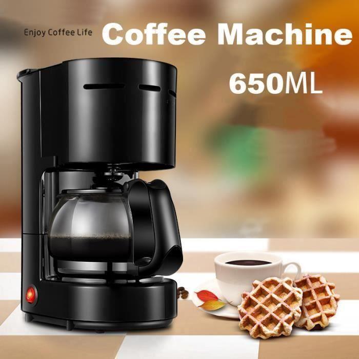 220 V 650 ML Machine À Café Automatique Café Américain Garder Thermique Électrique Goutte À Goutte Cafetières