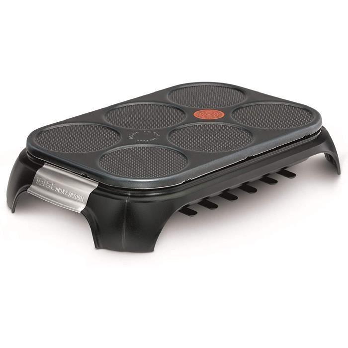 WOK ELECTRIQUE Crep Party Inox Design 6 Empreintes Crecircpes Blinis Pancakes Thermospot Rangement Accessoires PY55881328