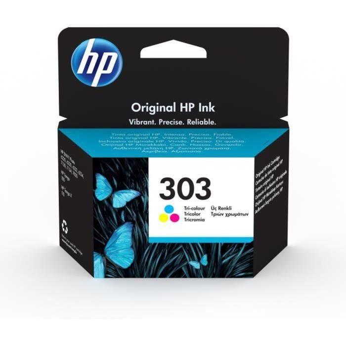 HP 303 cartouche d'encre trois couleurs authentique pour HP Envy Photo 6220/6230/7130 (T6N01AE)