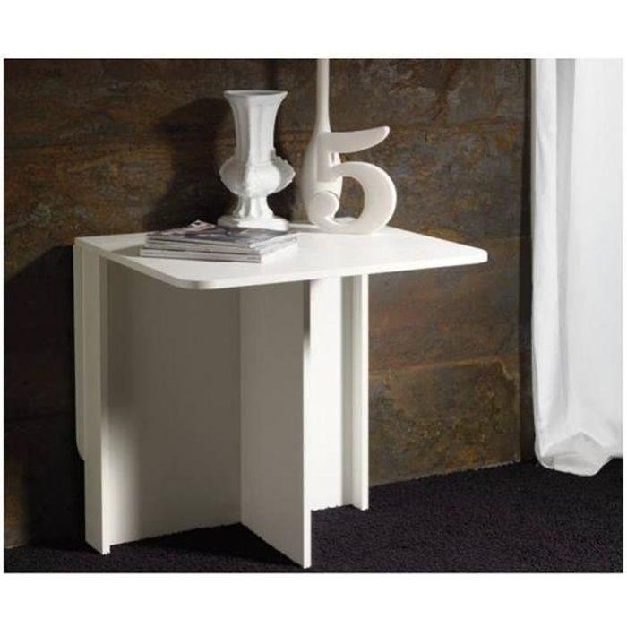 Console extensible SNACK design blanc largeur 74 cm blanc Bois Inside75