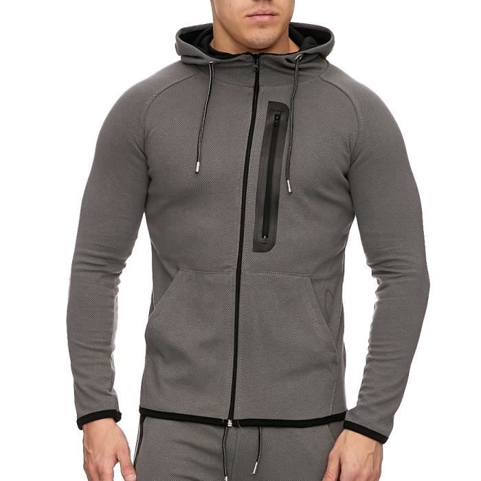 Veste de survet sportswear Veste à capuche 1965 gris
