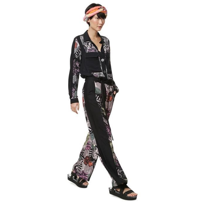 vêtements femme pantalons desigual geraldine. pantalon long tissé pour femme.