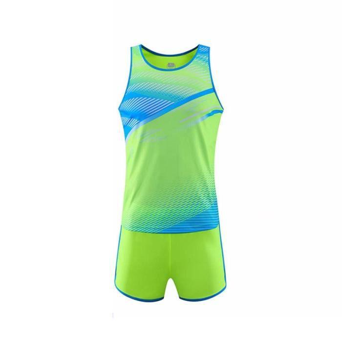 Ensemble Maillot et Short Femme Athlétisme Running Vetement de Sport Séchage Rapide Respirant