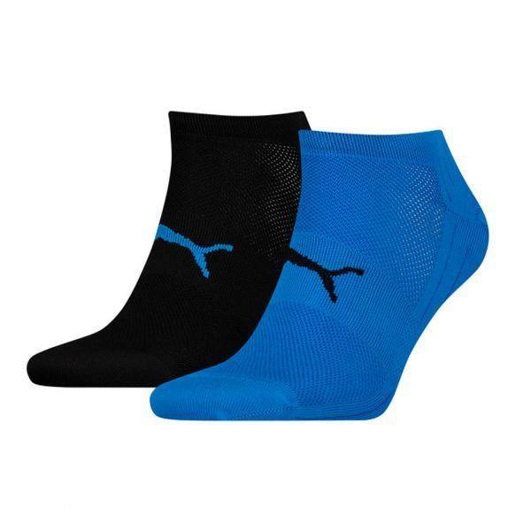 PUMA Lot de 2 paires de Socquettes Mixte Microfibre TRAINLIGHT Noir Bleu PERFORMANCE