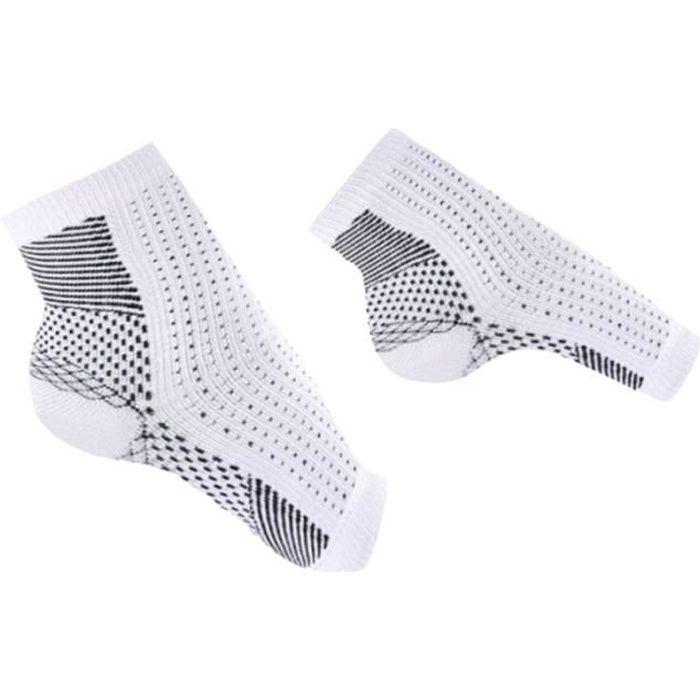 2 paires de chaussettes de compression Chaussettes Fasciitis plantaires CHAUSSETTES DE RECUPERATION - CHAUSSETTES DE COMPRESSION