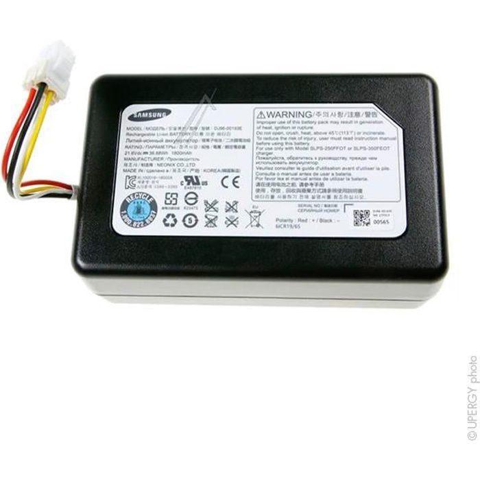 Batterie aspirateur VR20J9020UG 21.6V 2200mAh - H616372 6INR19/65 VR20J9020U-Samsung