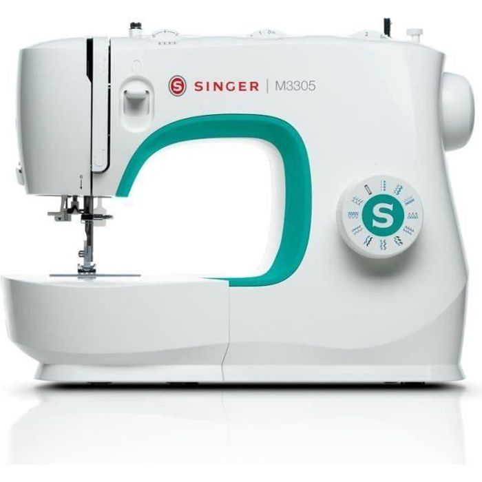 SINGER M3305 Machine à coudre - 23 programmes de points - 70W