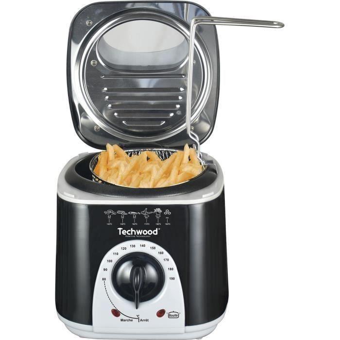 TECHWOOD Mini Friteuse et Appareil à fondu - 950 W - Noir