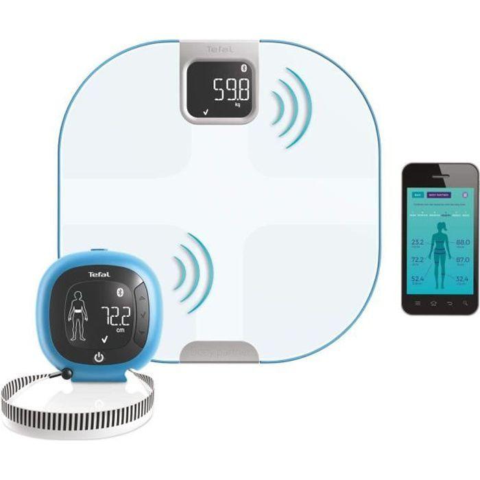 Tefal - Body Partner Pèse Personne Balance Connectée Compatible Health Kit Google Fit - Coaching Sportif Et Nutritionnel Intégré