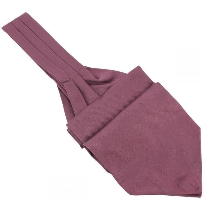 Cravate Ascot en soie, Melanconia, Fait à la main Violet