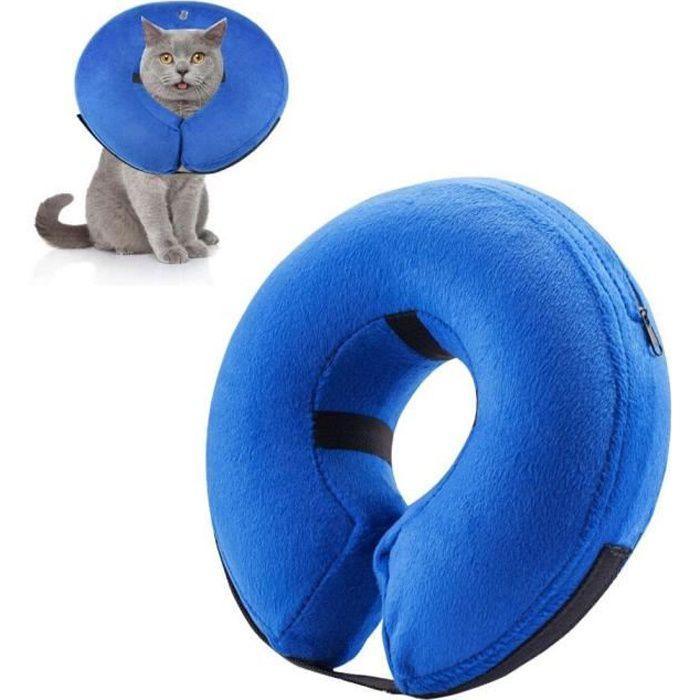 UMIWE Collier de Convalescence pour chiens et chats Bleu Taille S