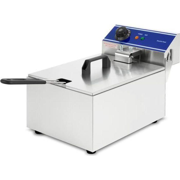vertes Friteuse 10L (3000 Watt, température réglable jusqu'à 200°C, électrique , capacité 6,5 litres d'huile)