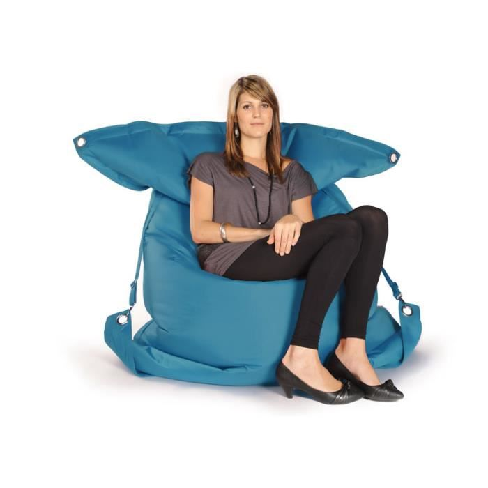 pouf sangles ext rieur outdoor xxl turquoise achat. Black Bedroom Furniture Sets. Home Design Ideas