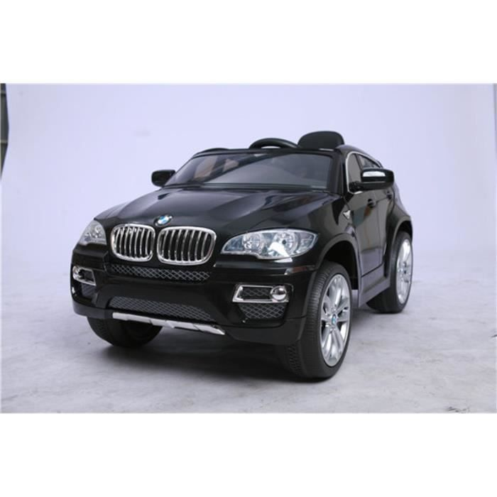 bmw x6 noire version luxe voiture lectrique enfant 12v 2 moteurs t l commande parentale. Black Bedroom Furniture Sets. Home Design Ideas