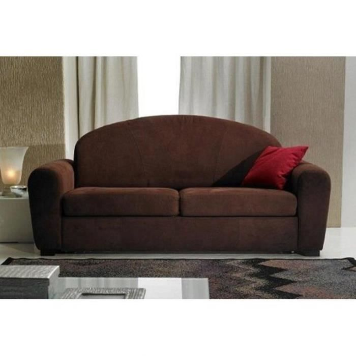 canap lit club cuba marron convertible rapido achat vente canap sofa divan. Black Bedroom Furniture Sets. Home Design Ideas