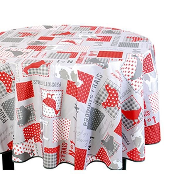 Nappe de table ronde nappe ronde poules 180 cm achat - Table ronde nappe ...