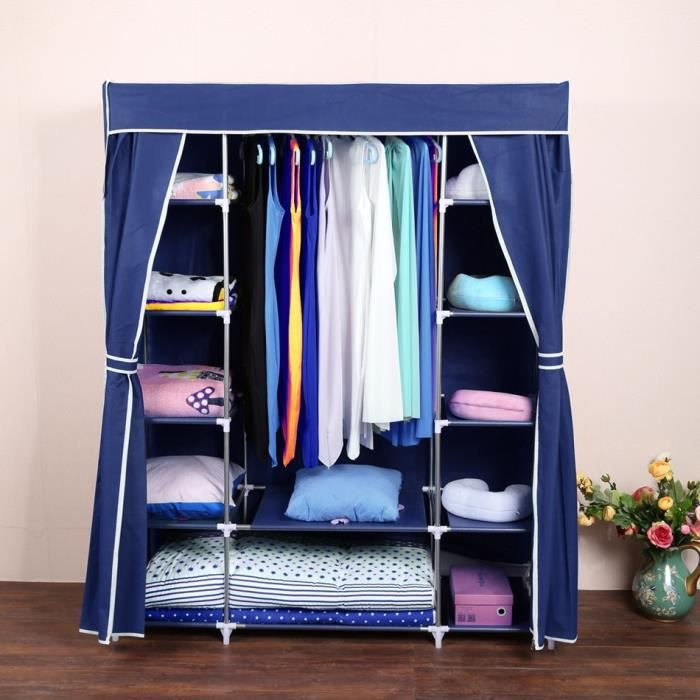 homdox armoire rangement v tement portable stoc achat vente armoire de chambre homdox. Black Bedroom Furniture Sets. Home Design Ideas