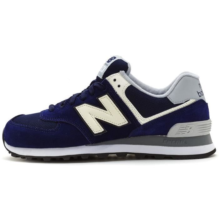 Baskets New Balance 574 Varsity Suede Retro Chaussures in Bleu Marin & Blanc ML574 VAB [UK 7EU 40.5]