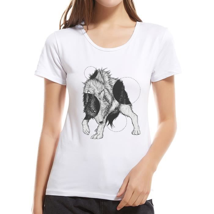 En Haut783 Courtes Dames Manches Coton shirt Cartoon Filles Animal T Igyvmb6Yf7