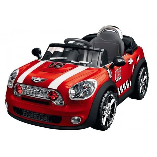 voiture lectrique mini cooper pour enfant rouge achat. Black Bedroom Furniture Sets. Home Design Ideas