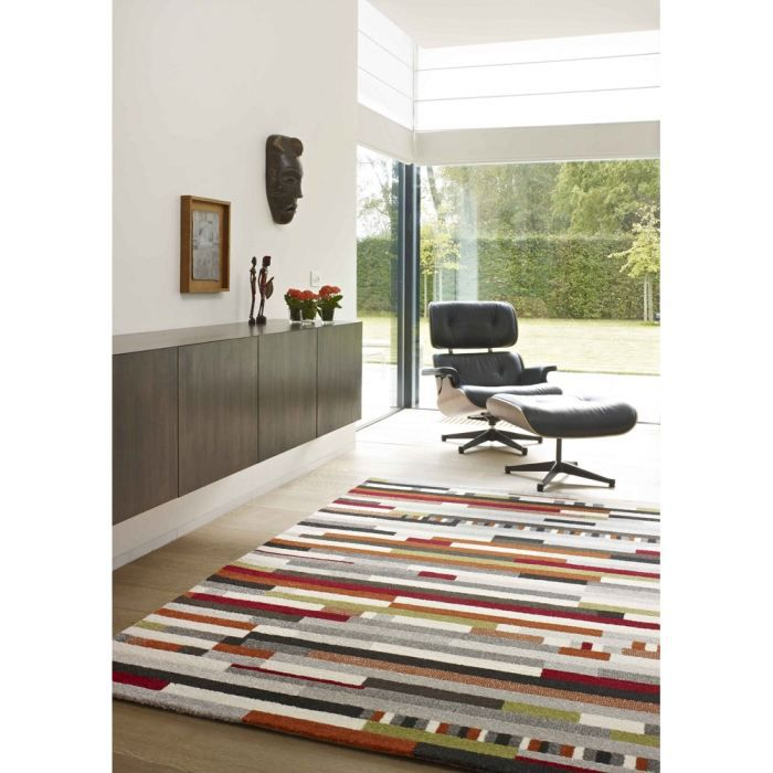 Tapis salon sevilla multicolor trait universol achat Achat tapis salon