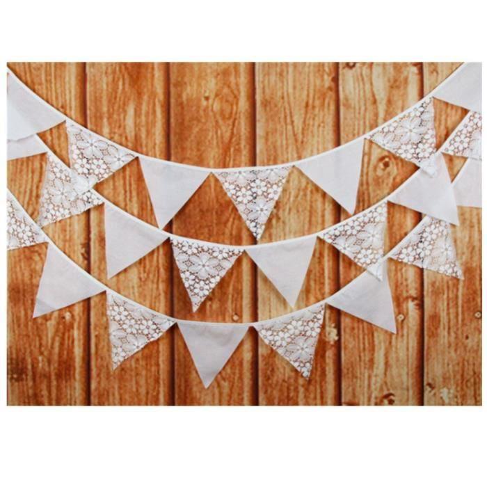 Fanion Chaîne Fanion Guirlande Multicolore Coton Fête Anniversaire Déco Tissu Guirlande