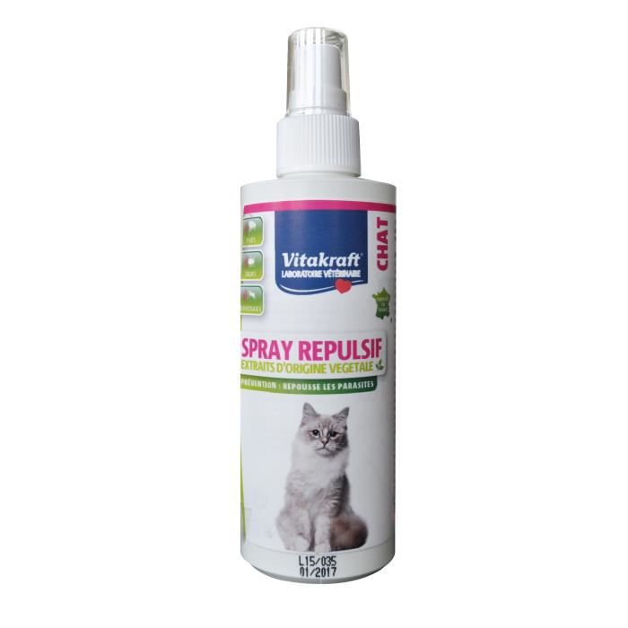 ANTIPARASITAIRE Spray répulsif chat - 200 ml