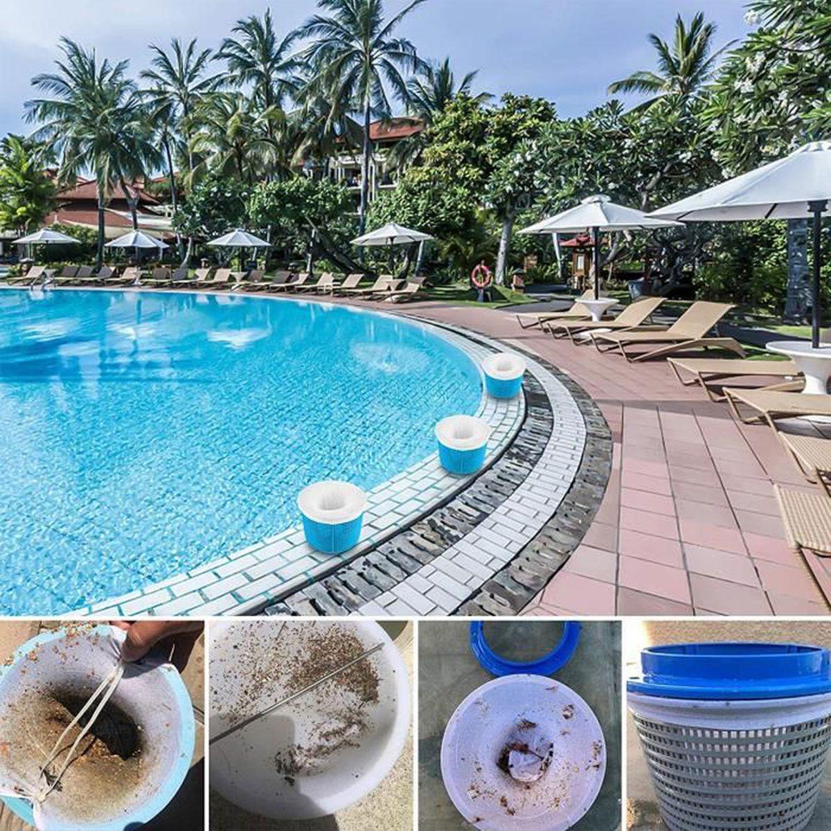 Filtre Piscine Lave Vaisselle topown 10pcs chaussettes skimmer piscine / poche filtrante