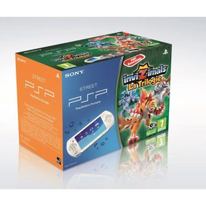 CONSOLE PSP PSP STREET BLANCHE + TRILOGIE INVIZIMAL + CAMÉRA