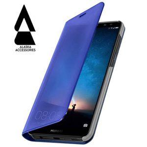 HOUSSE - ÉTUI Pochette Miroir Huawei P20 lite Bleu