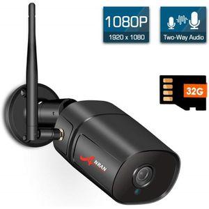 CAMÉRA IP ANRAN Caméra IP extérieure avec Cartes SD 32G 1080