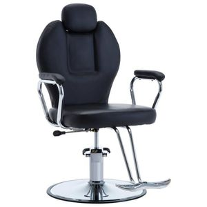 FAUTEUIL DE COIFFURE - BARBIER Chaise de coiffeur Similicuir Noir - 66 x 90 x (10