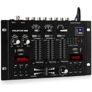 TABLE DE MIXAGE auna TMX-2211 MKII Table de mixage DJ 2-3 canaux -
