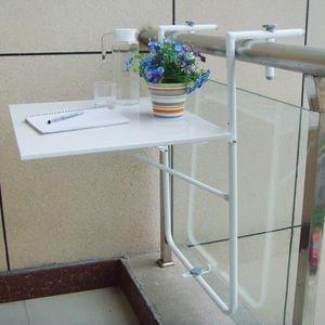 Table De Balcon Suspendue Rabattable Blanche Achat Vente Table