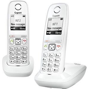 Téléphone fixe Gigaset AS405 Duo Téléphone sans fil avec ID d'app