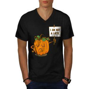T-SHIRT Citrouille Latté ne pas Men  T-shirt à sonnerie  