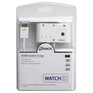 CÂBLE TV - VIDÉO - SON Switch HDMI 3 vers 1