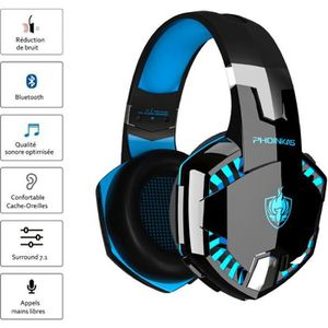CASQUE AVEC MICROPHONE Usiful Micro Casque gamer Filaire - compatible ave